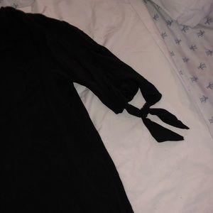Thin Black Mini Dress.